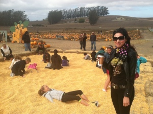 At Great Peter Pumpkin Patch in Petaluma. Photo by J. Rossman.